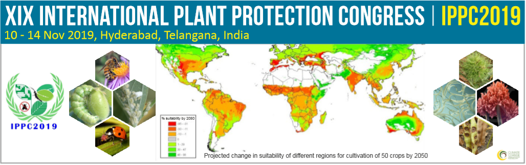 XIX International Plant Protection Congress (IPPC), 10.-14.11.2019, Hyderabad, India.