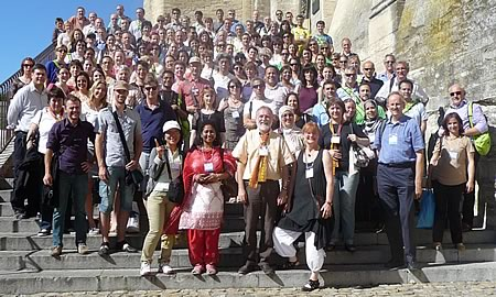 "Participants at the IOBC-WPRS meeting of the working group ""Induced resistance in plants against insects and diseases"" in Avignon 2013 in front of the Palace of the Popes."