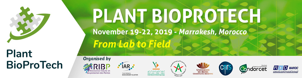 Plant BioProTech 2019, International Symposium for Innovation in the Biocontrol, Plant Protection Field – 2nd edition, 19-22 November 2019, Marrakesh, Morocco.