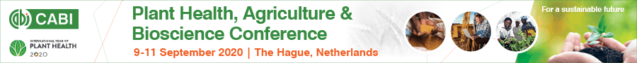 Plant Health, Agriculture & Bioscience Conference (PHAB2020), 09.-11.09.2020, The Hague, Netherlands