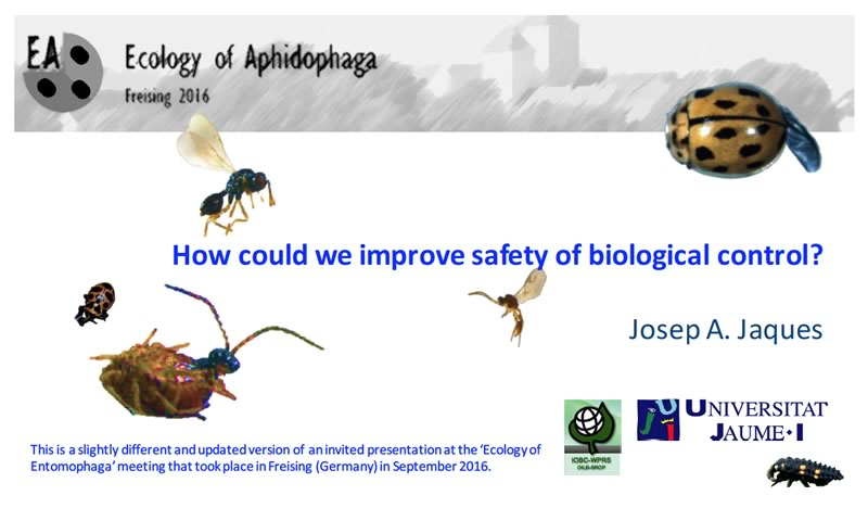 CHIBCA and the safety of biological control. General Assembly 2017, Riva del Garda, Italy: Presentation