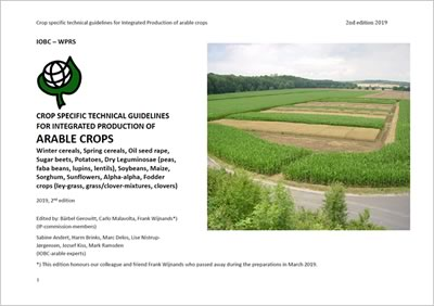 Crop Specific Technical Guidelines for Integrated Production of Arable Crops, 2nd edition, 2019